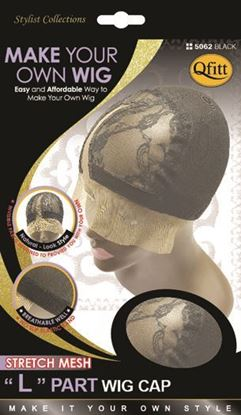 "Picture of [STRETCH MESH] ""L"" PART WIG CAP"