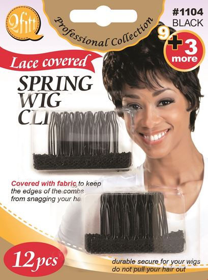Picture of 12PCS BLISTER SPRING WIG CLIPS with LACE