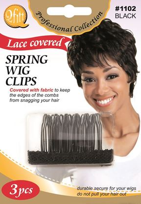 Picture of 3PCS BLISTER SPRING WIG CLIPS with LACE