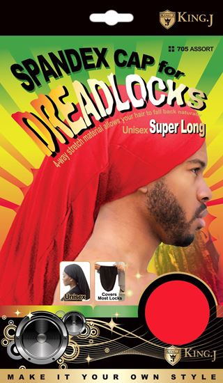 Picture of SPANDEX DREADLOCKS CAP SUPER LONG