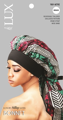Picture of [PATTERN] LUXURY SILKY SATIN BONNET (AFRO) - BRAID