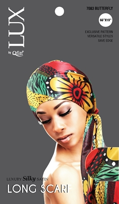 Picture of [PATTERN] LUXURY SILKY SATIN LONG SCARF(AFRO) - ONESIZE