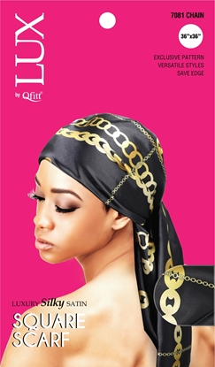 Picture of [PATTERN] LUXURY SILKY SATIN SQUARE SCARF(AFRO) - ONESIZE